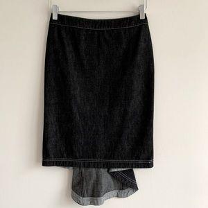 Ferre Jeans paneled denim skirt Dark wash